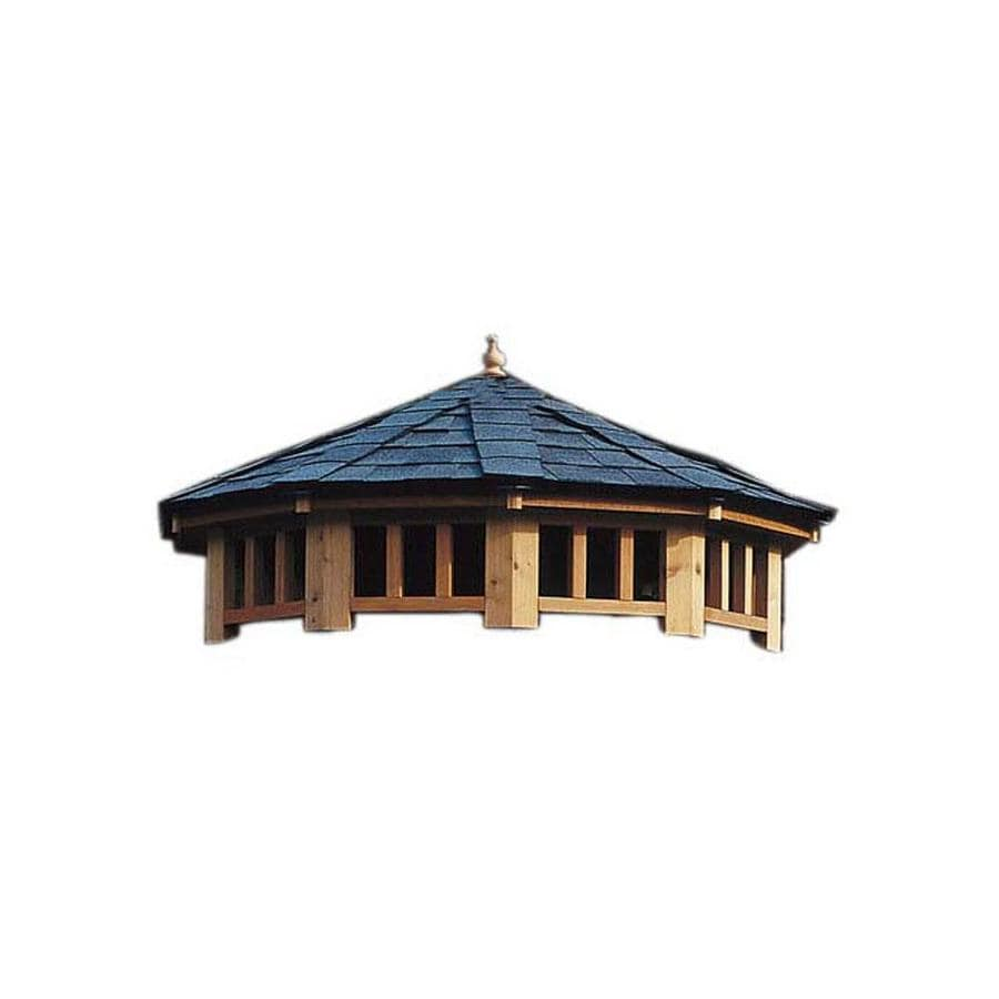 Heartland Brown/Tan Pressure-Treated Wood Round Permanent Gazebo (Exterior: 0-ft x 0-ft; Foundation: 0-ft x 0 Feet)
