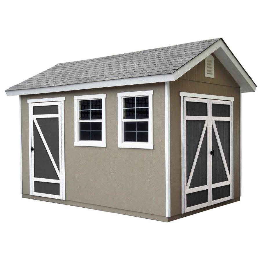 Heartland Architectural Gable Engineered Wood Storage Shed (Common: 8-ft x 12-ft; Interior Dimensions: 10-ft x 12-ft)
