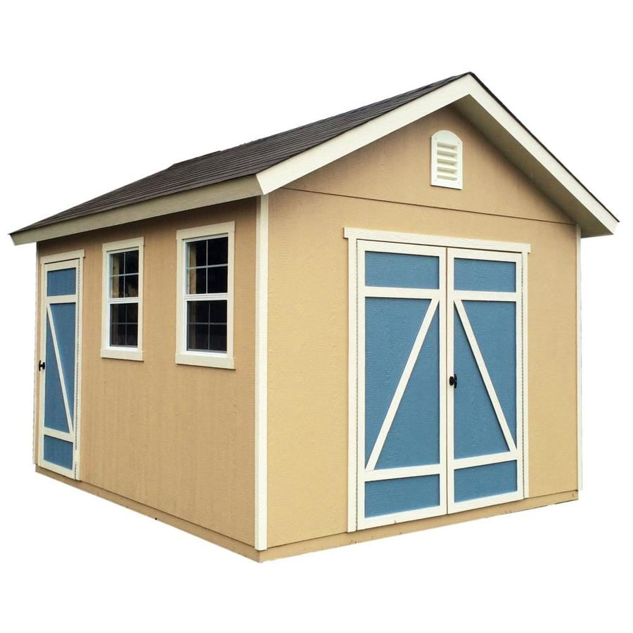 Heartland Architectural Gable Engineered Wood Storage Shed (Common: 10-ft x 12-ft; Interior Dimensions: 12-ft x 12-ft)
