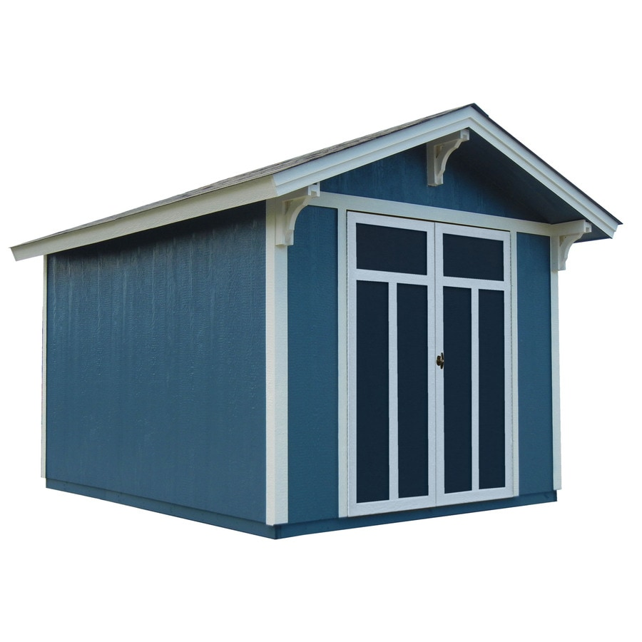 Heartland Architectural Gable Engineered Wood Storage Shed (Common: 8-ft x 10-ft; Interior Dimensions: 8-ft x 9.72-ft)