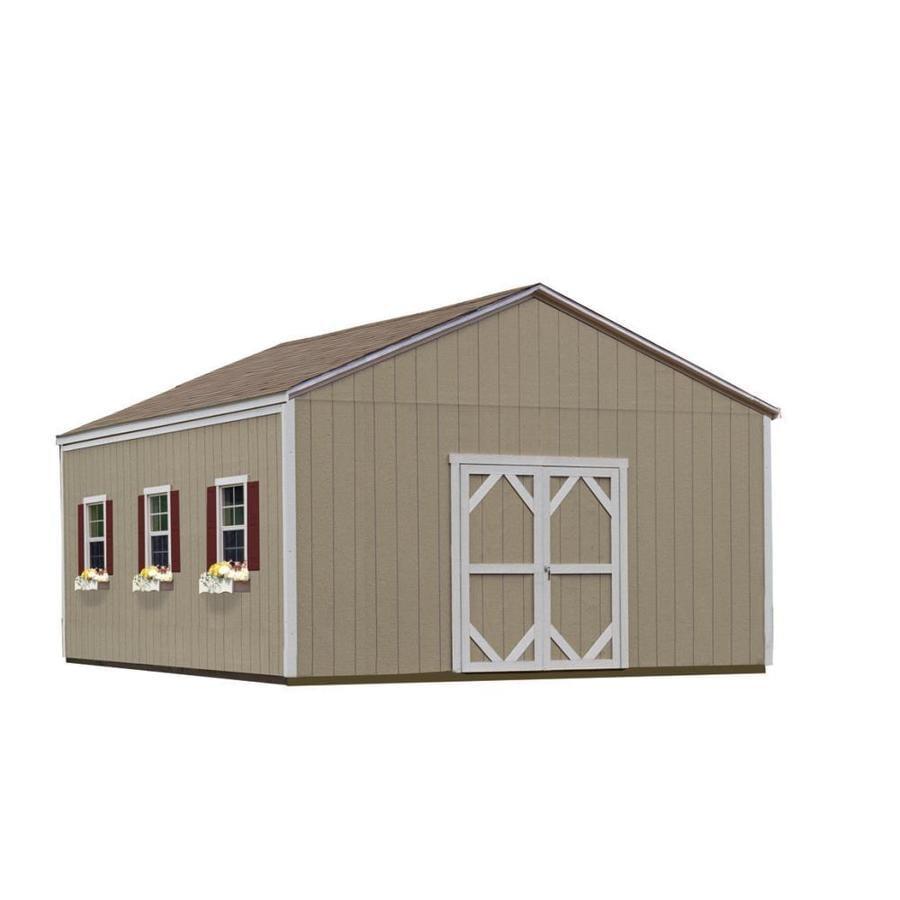 Shop heartland installed vista 16 x 24 wood storage for Storage building with loft