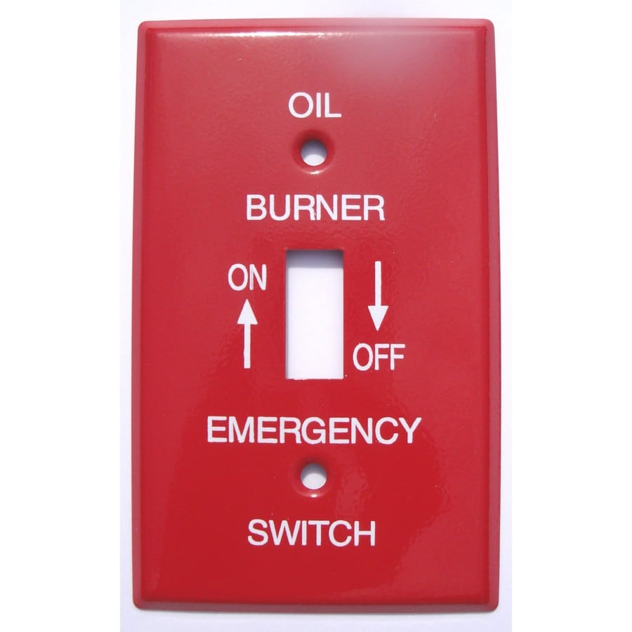 Mulberry 1-Gang Red Toggle Wall Plate