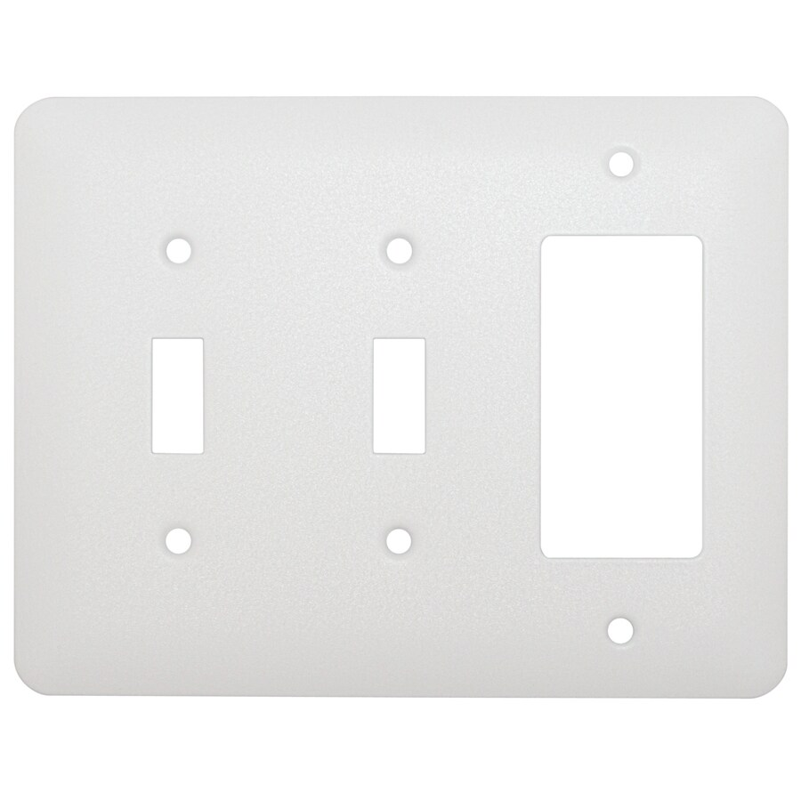 Mulberry 3-Gang White Wall Plate