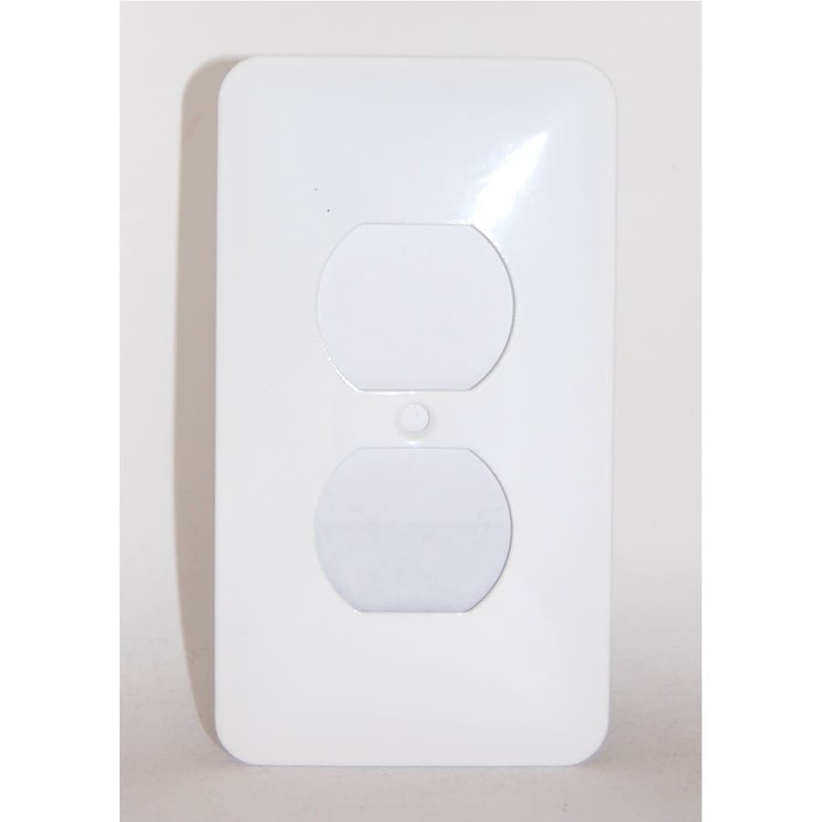 Mulberry 1-Gang White Round Wall Plate