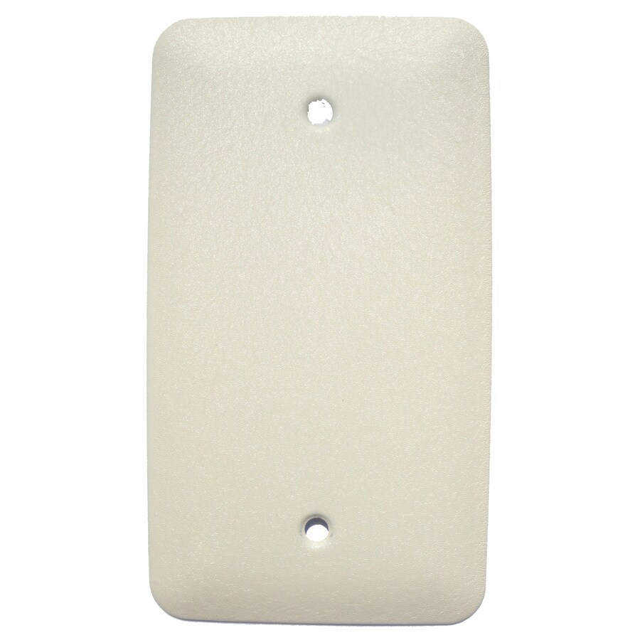 Mulberry 1-Gang Ivory Blank Wall Plate