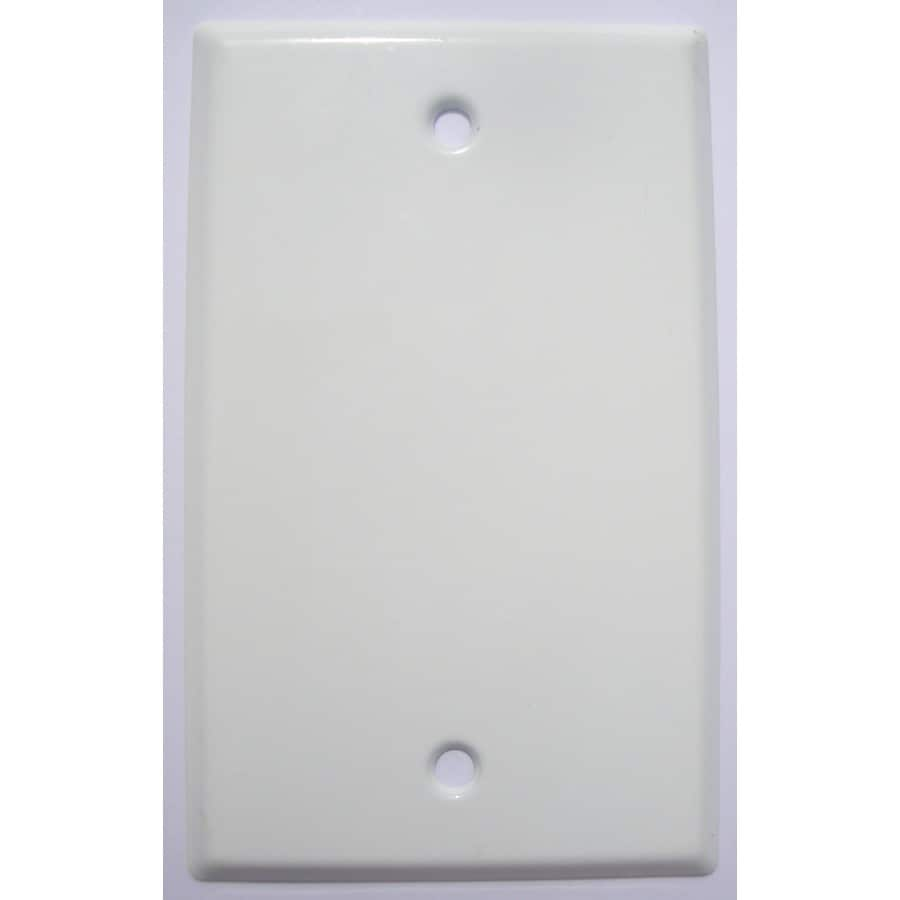 Mulberry 1-Gang White Blank Wall Plate