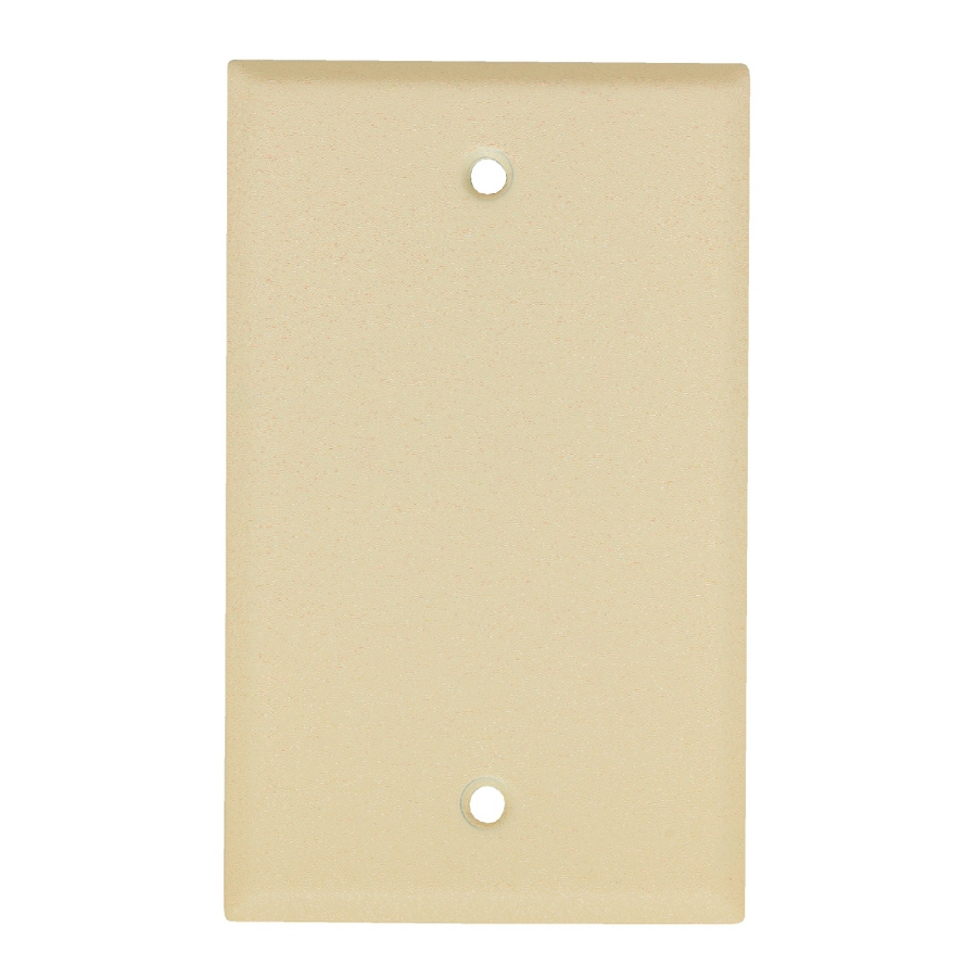 Mulberry 1-Gang Wrinkle Ivory Blank Wall Plate