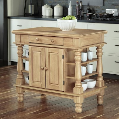 Home Styles Brown Farmhouse Kitchen Island At Lowes Com