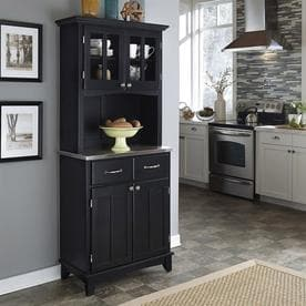 Incroyable Home Styles Black/Stainless Steel Kitchen Hutch