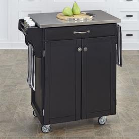 Home Styles Black Scandinavian Kitchen Cart