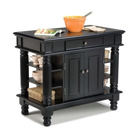 Home Styles Black Farmhouse Kitchen Island with  sc 1 st  Lowe\u0027s & Kitchen Islands \u0026 Carts at Lowes.com