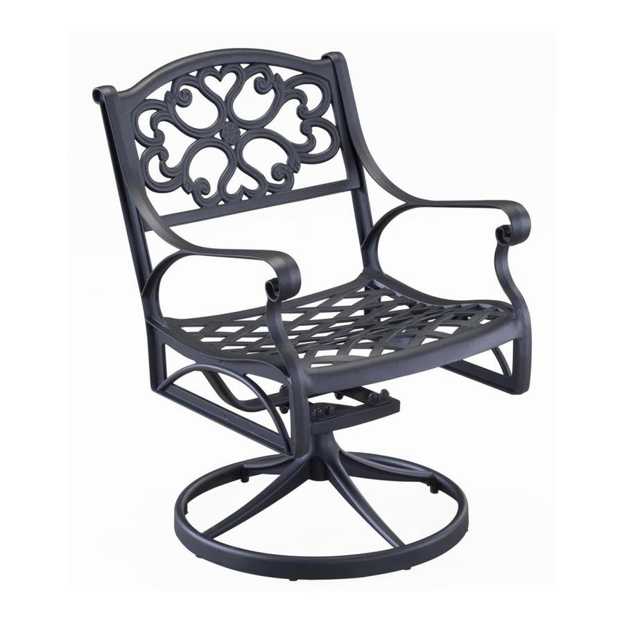 Home Styles Biscayne Black Aluminum Patio Rocking Chair