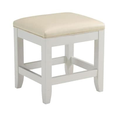 Fantastic Home Styles 19 In H White Rectangular Makeup Vanity Stool At Cjindustries Chair Design For Home Cjindustriesco