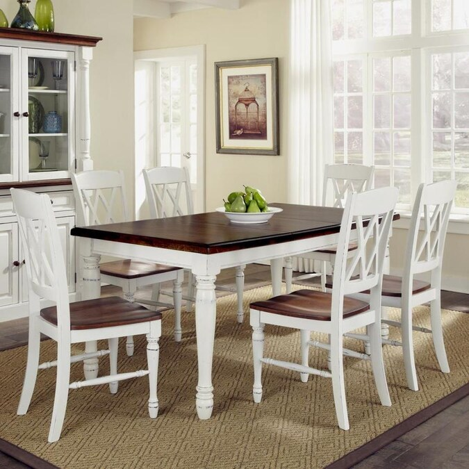 Home Styles Monarch White Oak Dining Set With Table In The Dining Room Sets Department At Lowes Com