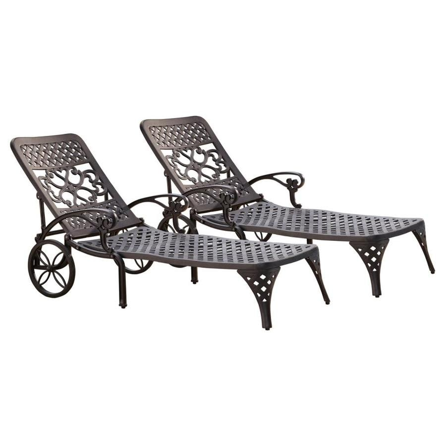 Home Styles Biscayne Set Of 2 Metal Stationary Chaise