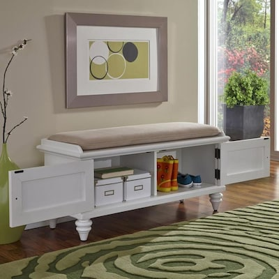 Fabulous Bermuda Coastal White Storage Bench Creativecarmelina Interior Chair Design Creativecarmelinacom