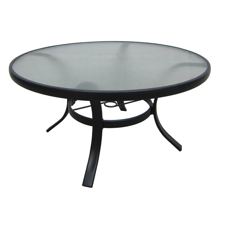 Garden Treasures Lake Notterly 20-in W x 20-in L Round Steel End Table