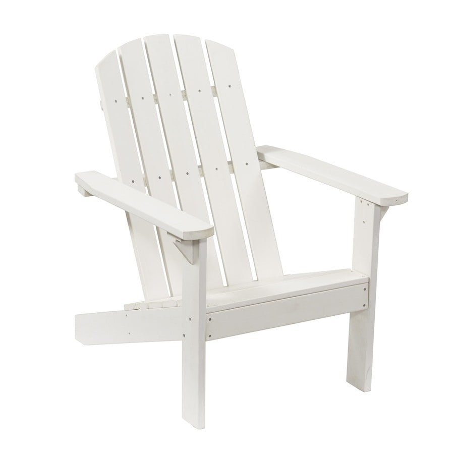 Garden Treasures Windsor Bay White Resin Patio Adirondack Chair