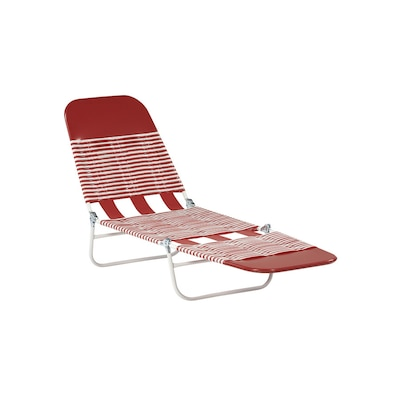 Excellent Banana Woven Seat Steel Patio Chaise Lounge Beatyapartments Chair Design Images Beatyapartmentscom