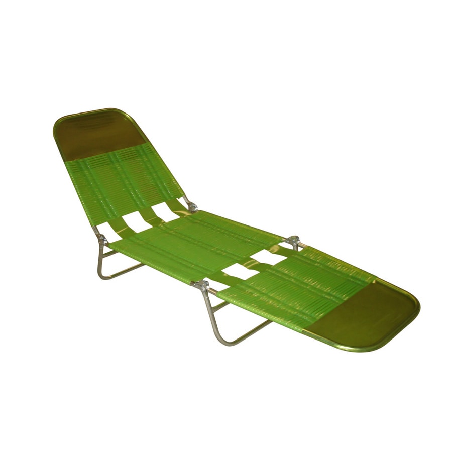 Shop Garden Treasures Green Folding Banana Lounge Chair at Lowes.com
