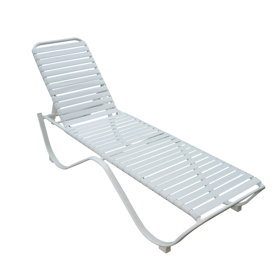 Garden Treasures White Aluminum Stackable Patio Chaise
