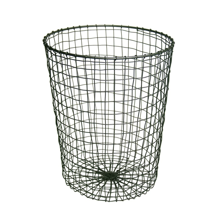 Style Selections 25-Liter Black Wire Trash Can