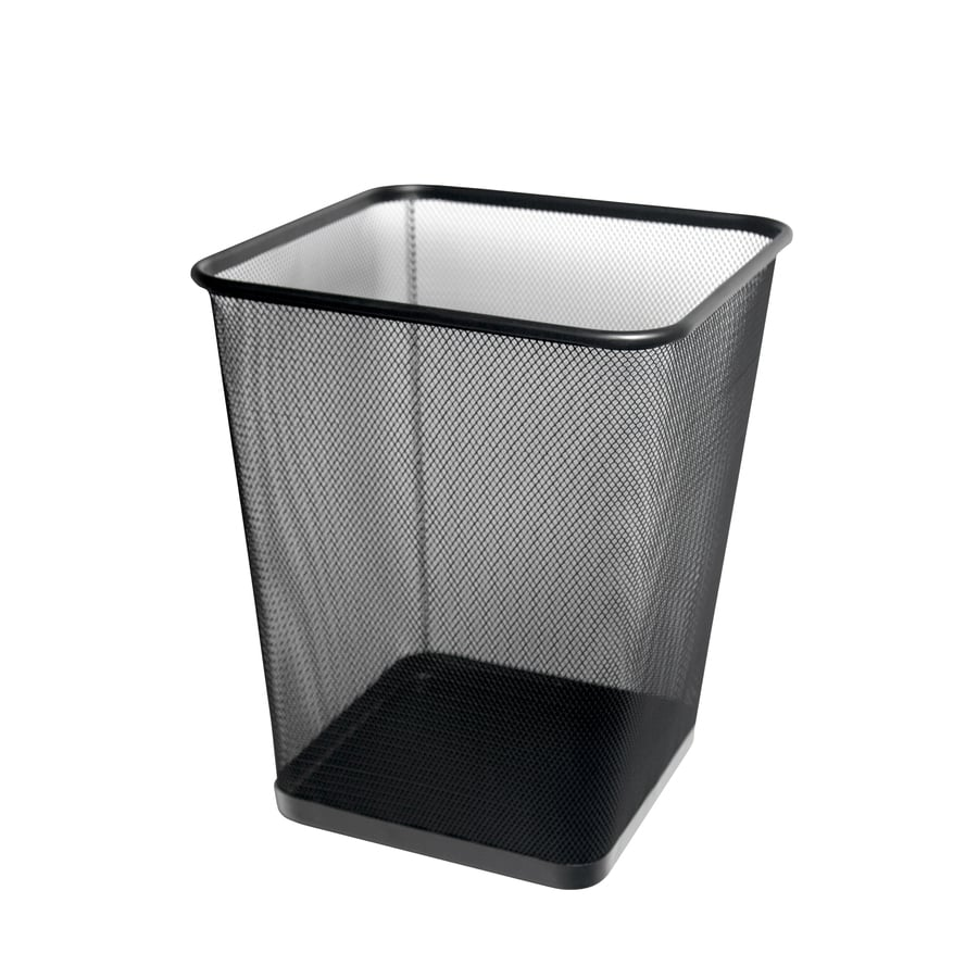 Style Selections 29-Liter Black Steel Trash Can