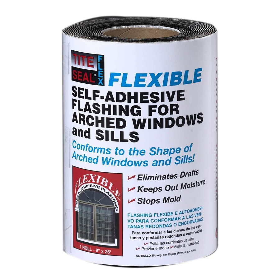 TITE-SEAL Self-Adhesive Waterproof 9-in x 25-ft Rubberized Asphalt Roll Flashing