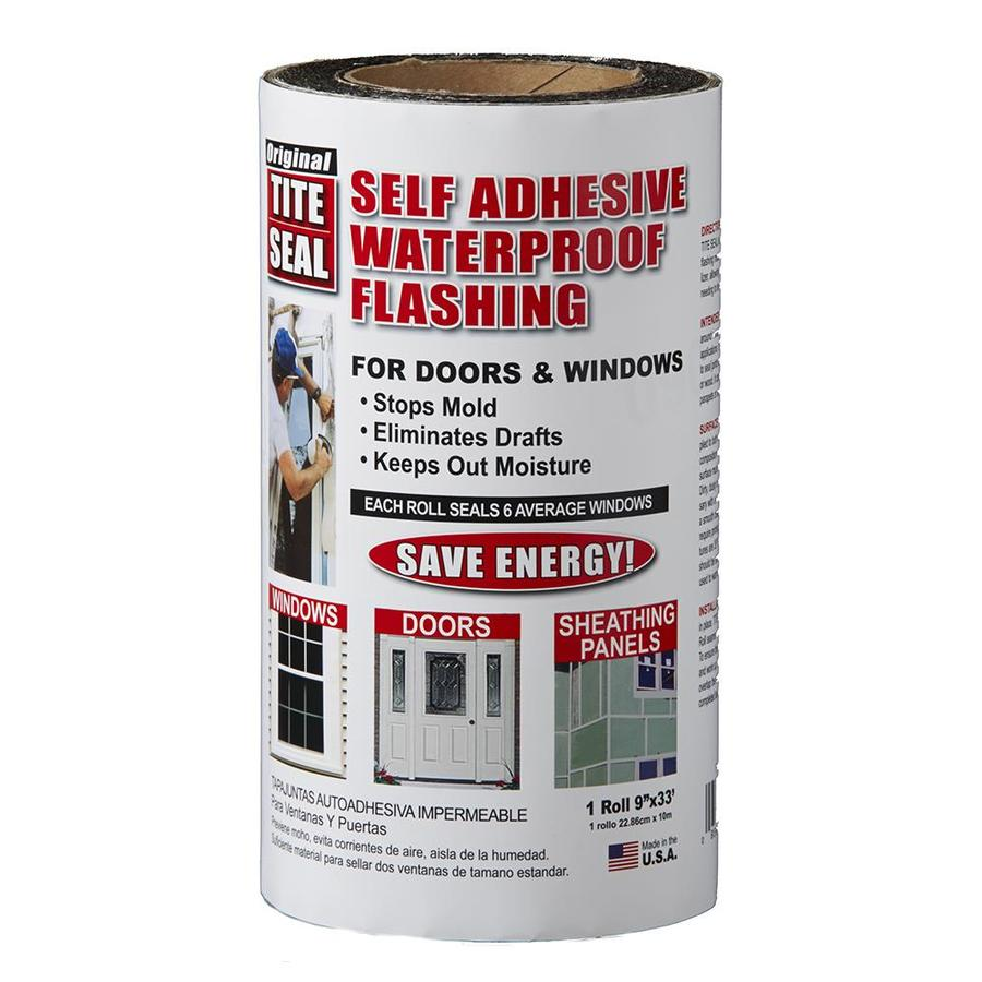 TITE-SEAL Self-Adhesive Waterproof 9-in x 33-ft Rubberized Asphalt Roll Flashing