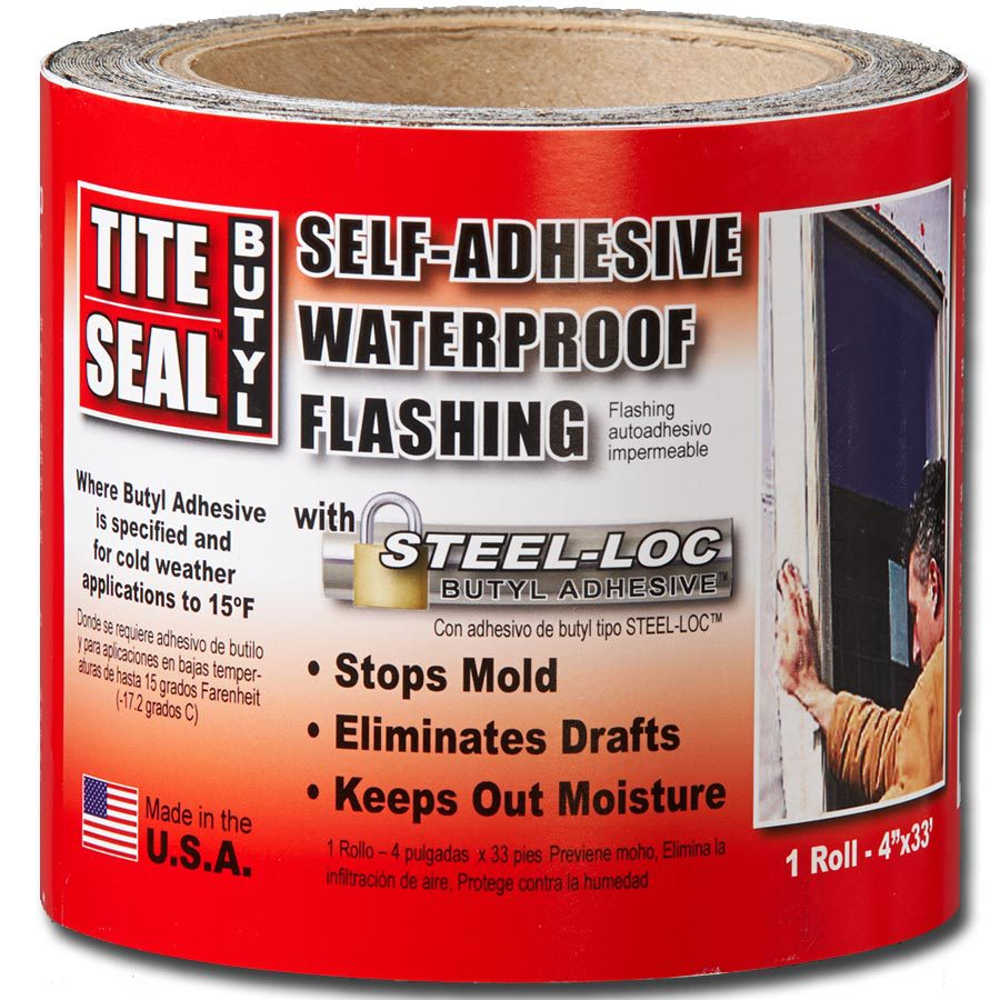 TITE-SEAL Self-Adhesive Waterproof 4-in x 33-ft Butyl Rubber Roll Flashing
