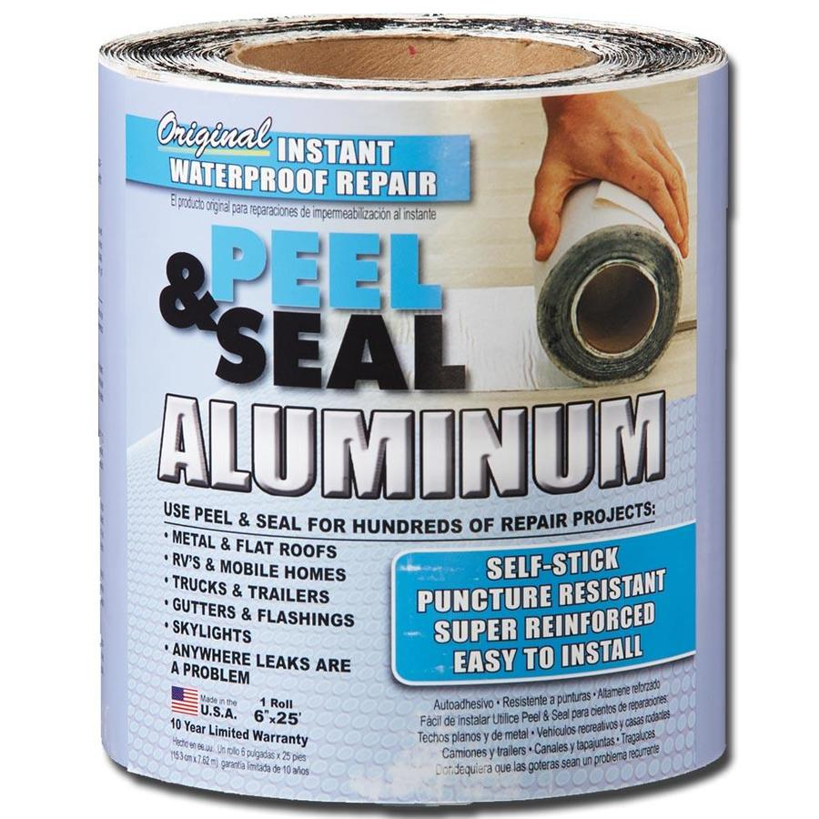 Peel & Seal Instant Waterproof Repairs 6-in x 25-ft Aluminum Roll Flashing