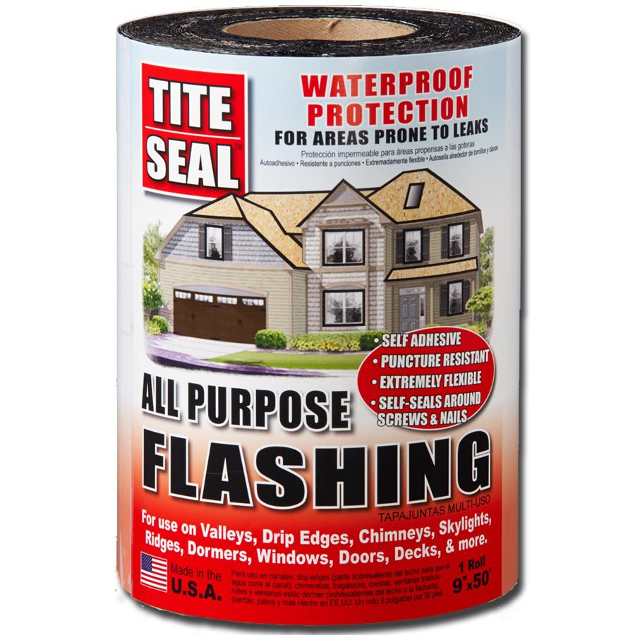 TITE-SEAL All Purpose 9-in x 50-ft Rubberized Asphalt Roll Flashing