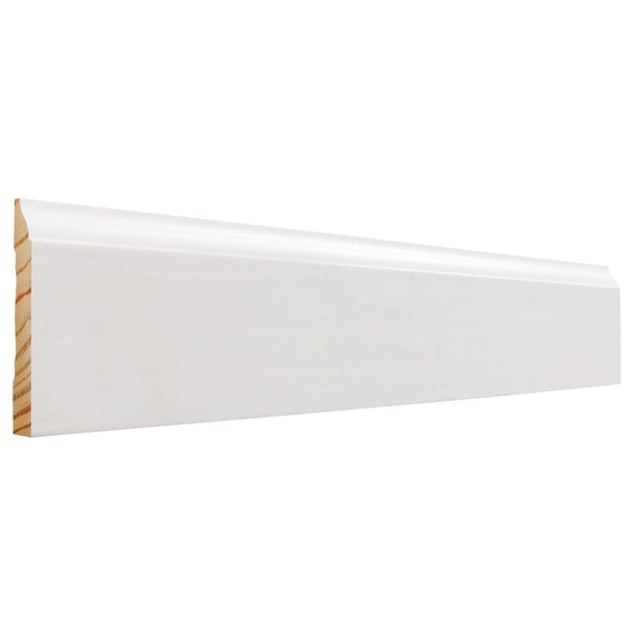 EverTrue 3.25-in x 12-ft Interior Pine Primed Finger Joint Baseboard Moulding