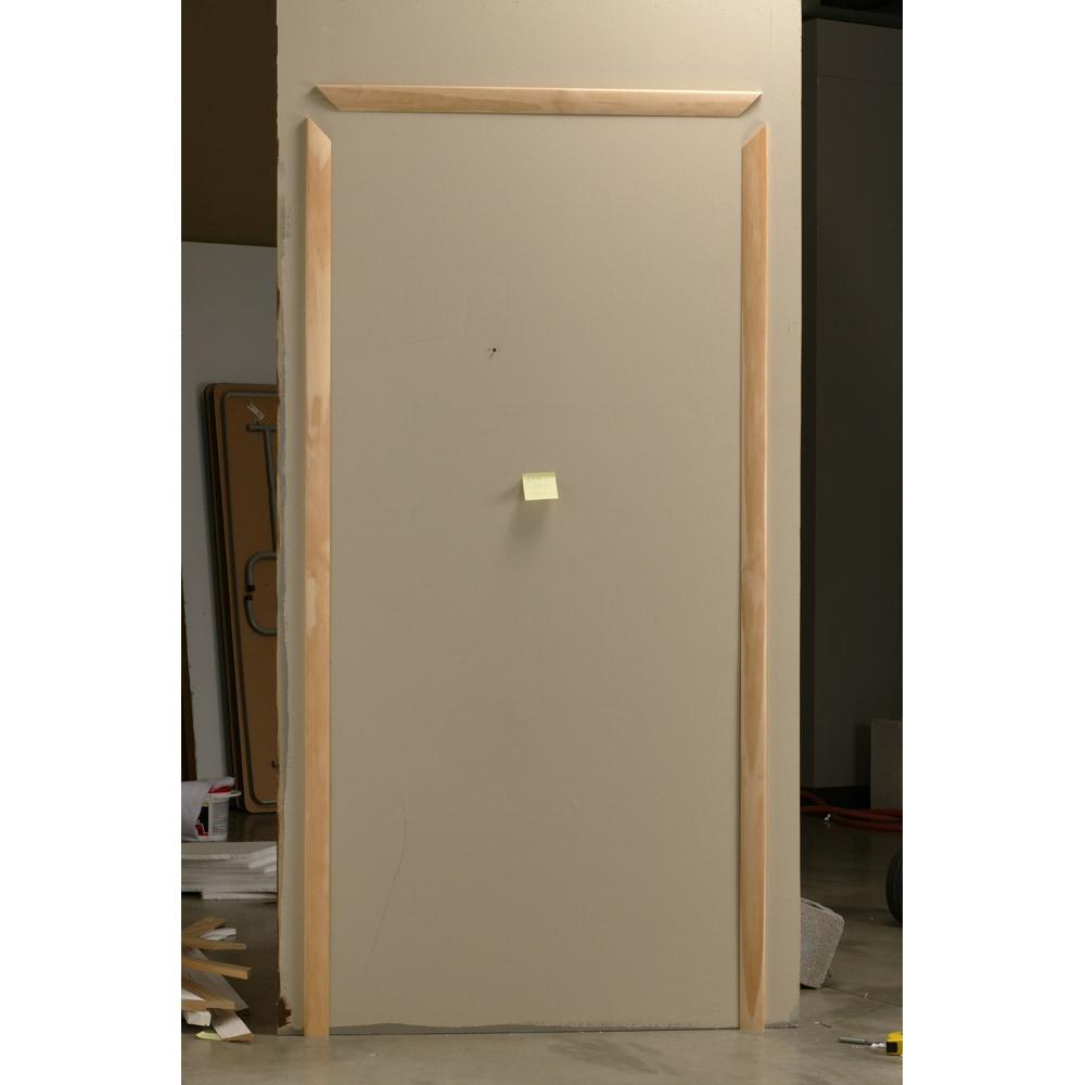 Shop evertrue pine modern casing 2 1 4 x 11 16 at for Modern door casing profiles