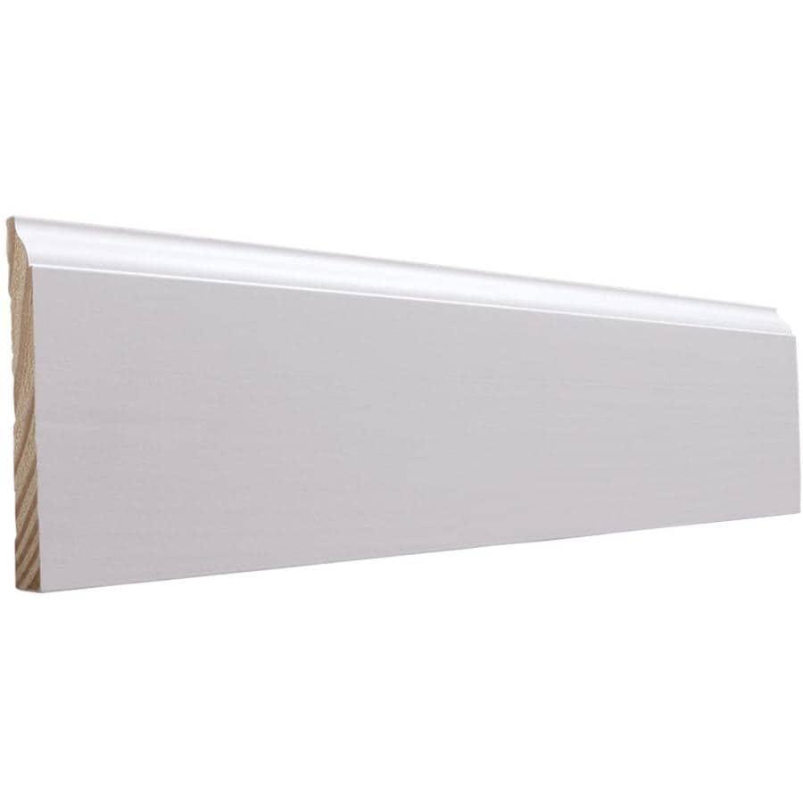 EverTrue 4.25-in x 8-ft Interior Pine Primed Finger Joint Baseboard Moulding