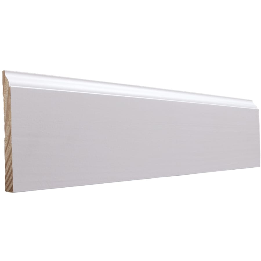EverTrue 4.25-in x 10-ft Interior Pine Primed Finger Joint Baseboard Moulding