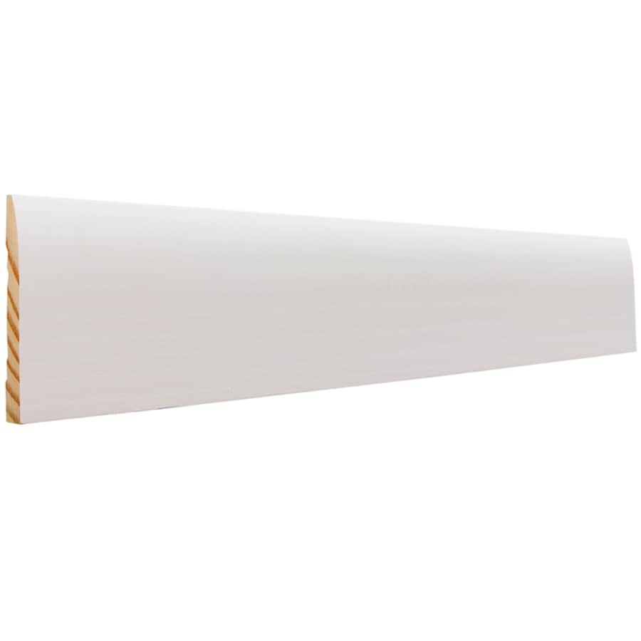 EverTrue 3-in x 12-ft Interior Pine Primed Finger Joint Baseboard Moulding