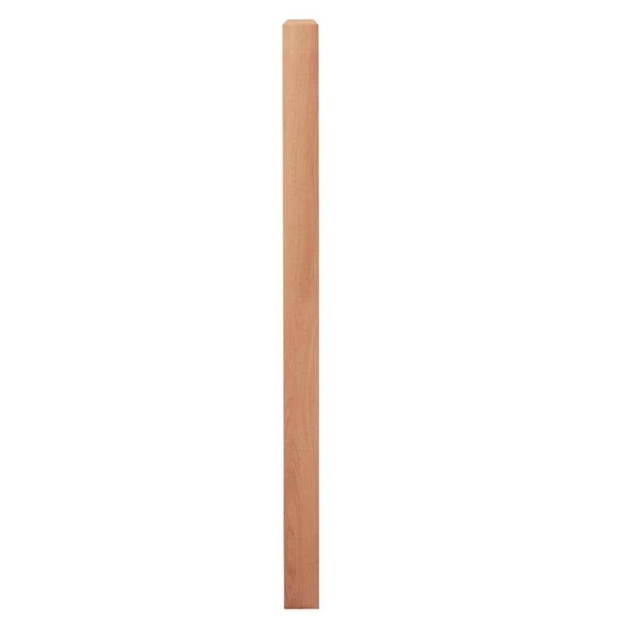 Creative Stair Parts 3.5-in x 58-in Raw Unfinished Red Oak Wood Stair Newel Post