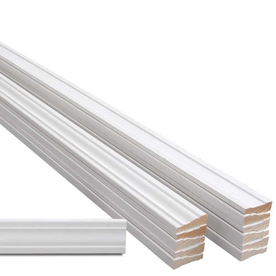 Garage door interior trim - Evertrue 12 Pack 2 25 In X 14 Ft Interior Pine Primed Pfj Window