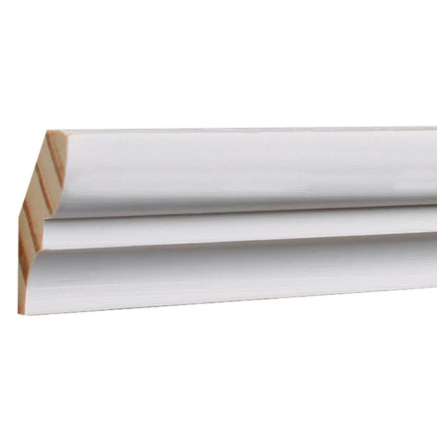 EverTrue 1.625-in x 12-ft Pine Primed Finger Joint Bed Moulding