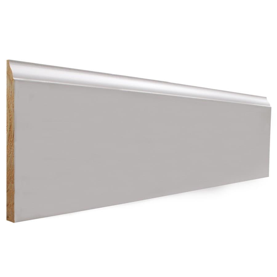 EverTrue 5.25-in x 12-ft Interior Pine Primed Finger Joint Baseboard Moulding