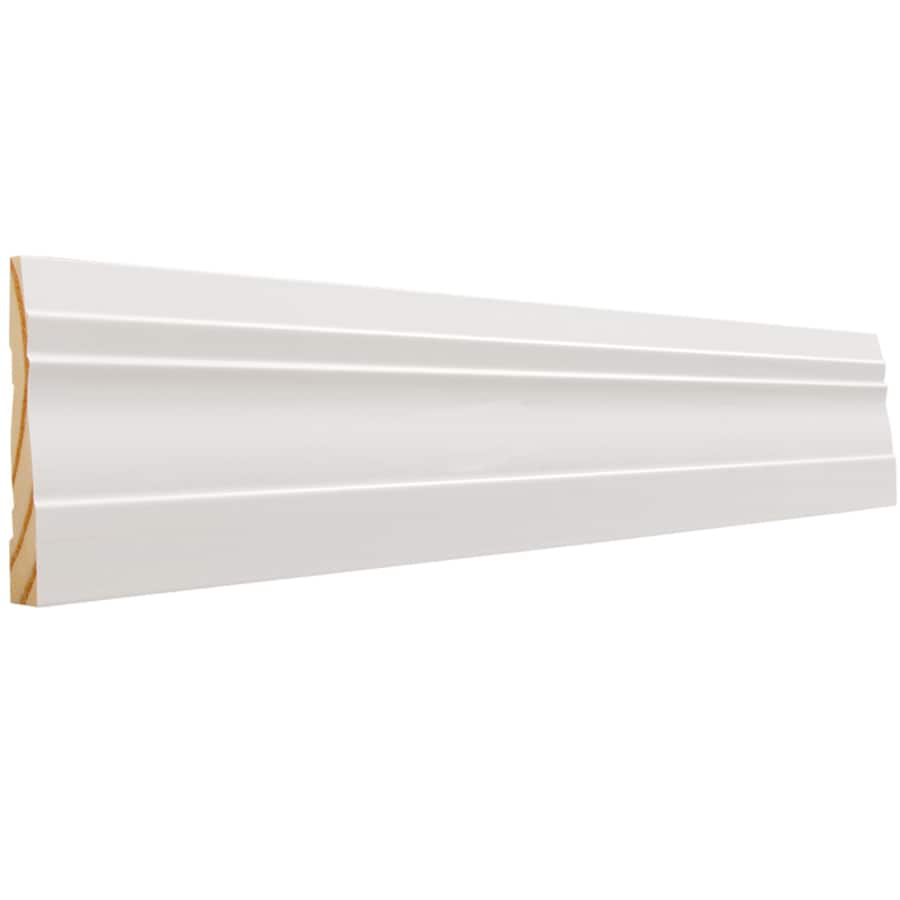 EverTrue 3.25-in x 8-ft Interior Pine Primed PFJ Baseboard Moulding