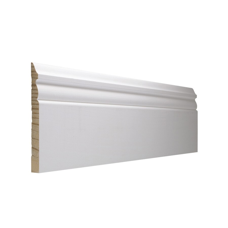 EverTrue 5.25-in x 8-ft Interior Pine PFJ Baseboard