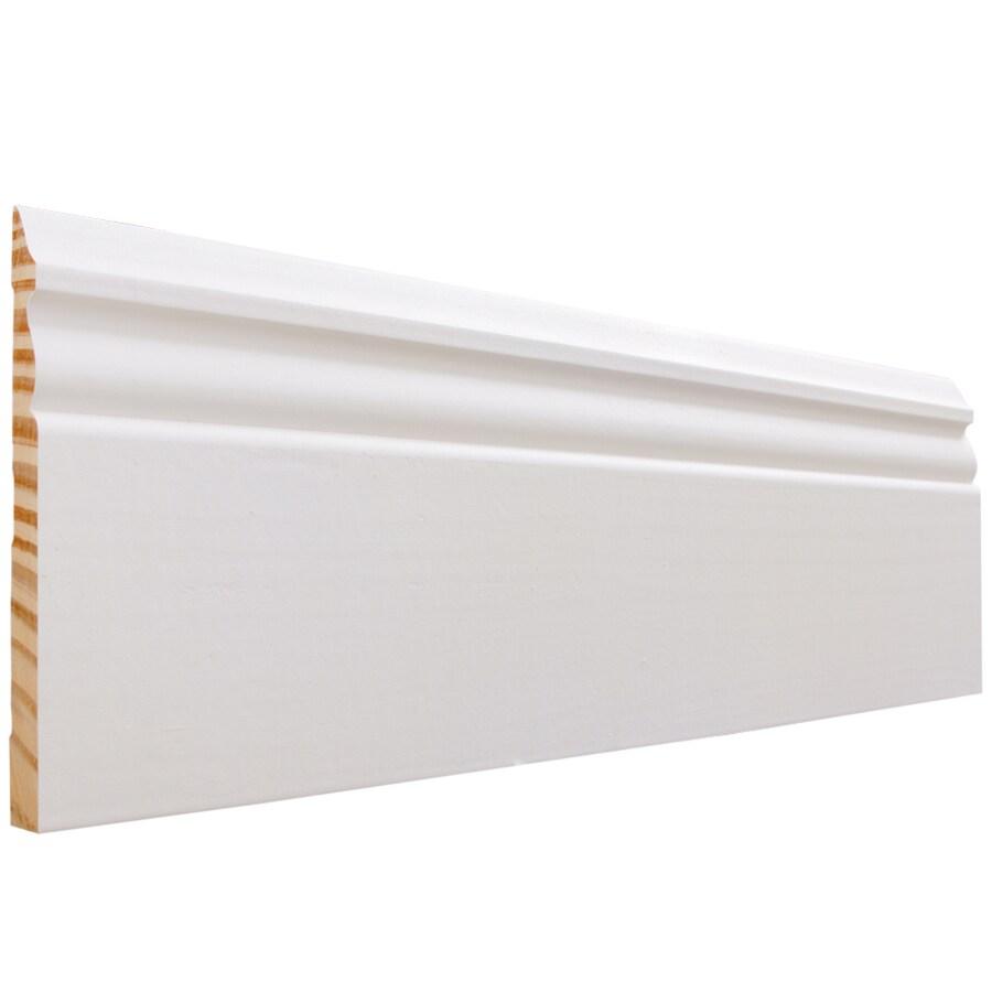 EverTrue 5.25-in x 16-ft Interior Pine PFJ Baseboard