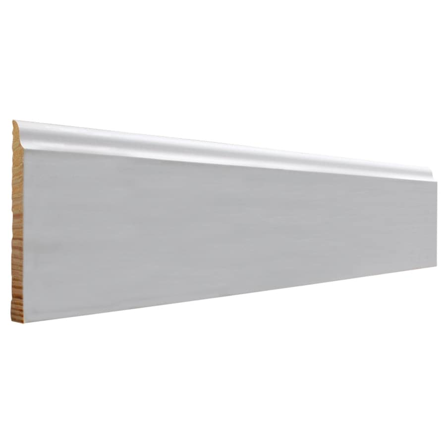 EverTrue 4.25-in x 16-ft Interior Pine Primed Finger Joint Baseboard Moulding