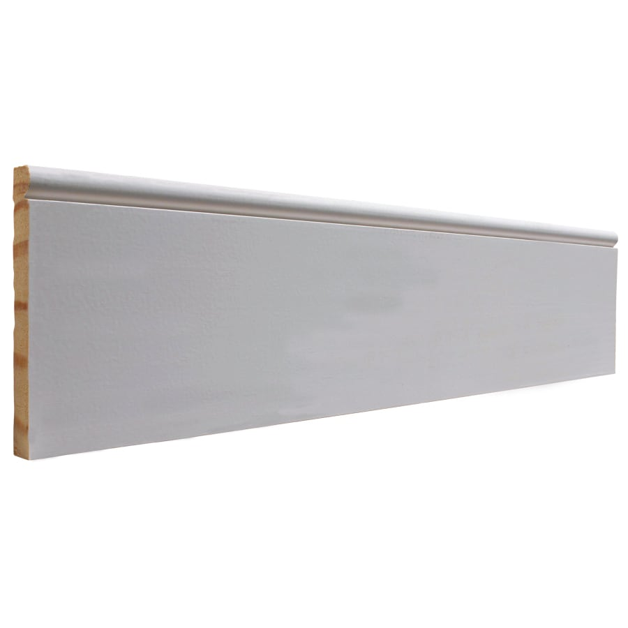 EverTrue 4.25-in x 12-ft Interior Pine Primed PFJ Baseboard Moulding