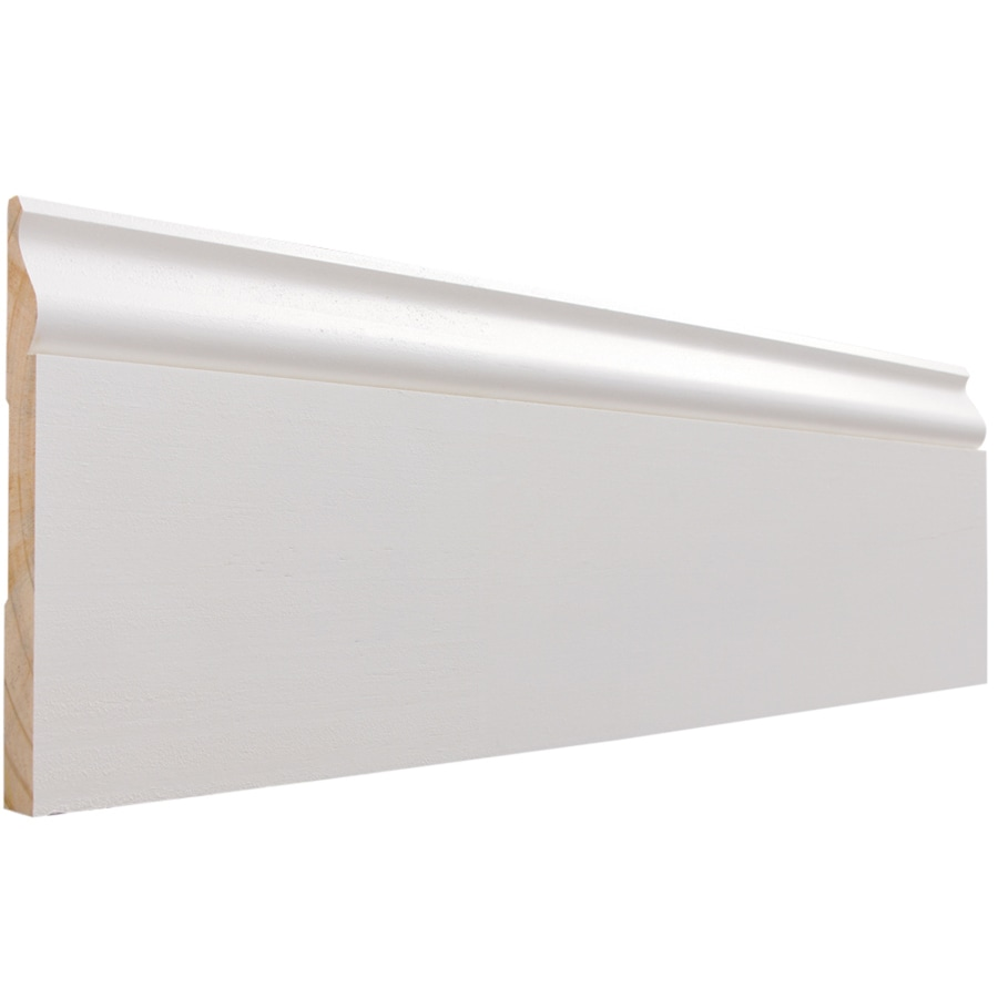 EverTrue 5.25-in x 12-ft Interior Pine Primed Finger Joint Baseboard Moulding