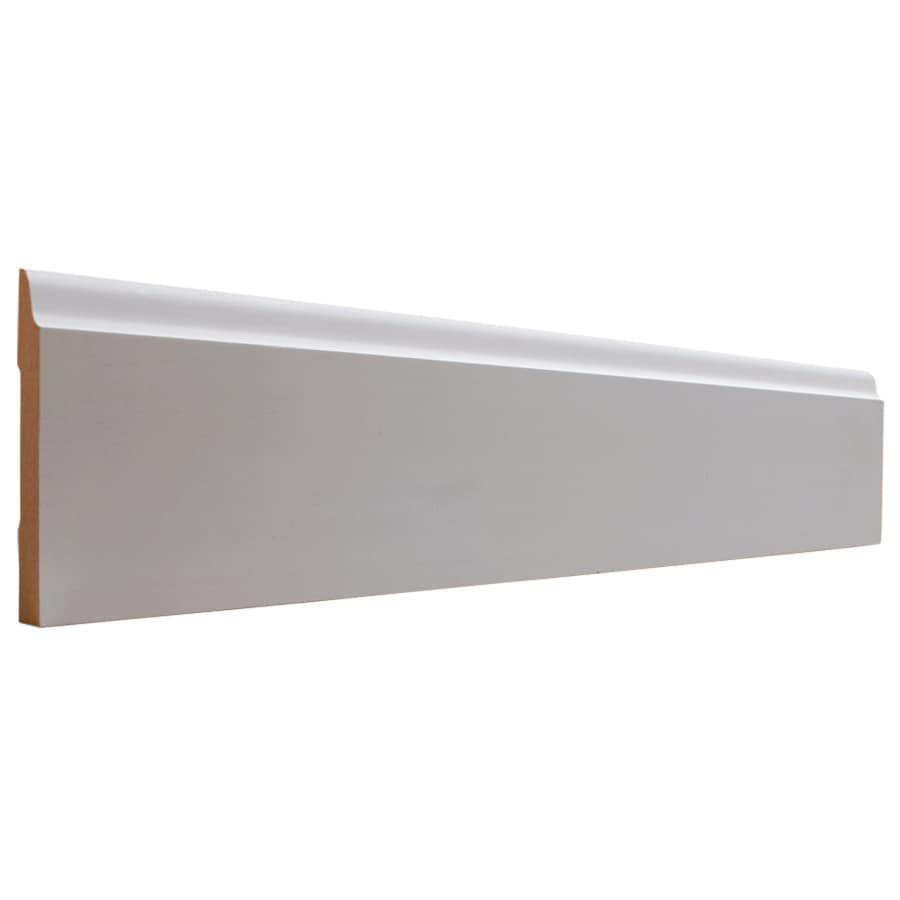 EverTrue 3.5-in x 8-ft Interior Primed MDF Baseboard Moulding