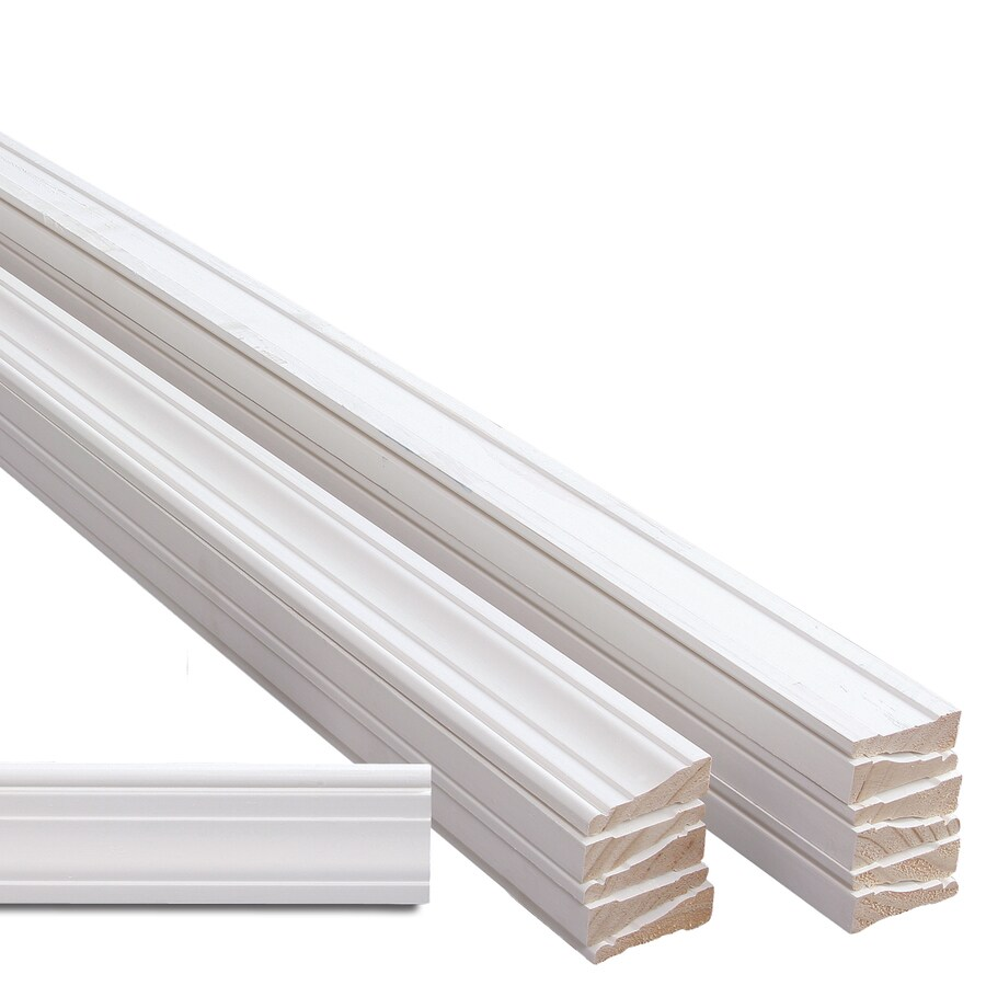 EverTrue 12-Pack 2.25-in x 14-ft Interior Pine Primed PFJ Window and Door Casing