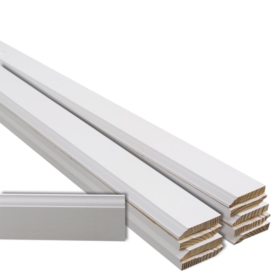 Wood baseboard in bathroom - Evertrue 10 Pack 3 25 In X 12 Ft Interior Pine Primed Finger Joint